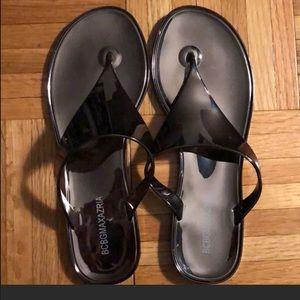 Bcbgmaxaria silver sandals